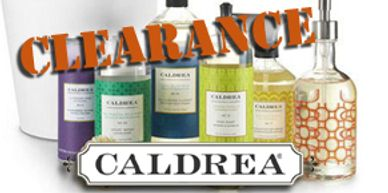 Caldrea Natural Aromatheraputic cleaners on CLEARANCE - now until all stock is gone!