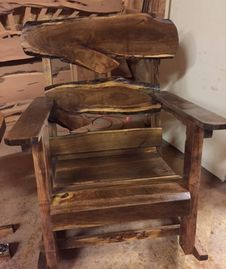 Single mesquite rocking chair