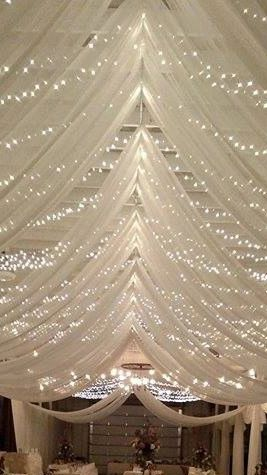 Ceiling drape at Huron County Fairgrounds Wedding designer simply yours, llc