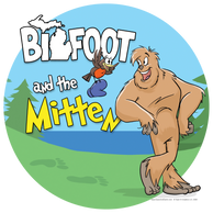 Bigfoot and the Mitten t-shirts, mugs, prints and other items from the best-selling picture book!