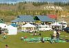 Outdoor market overlooking Yukon River