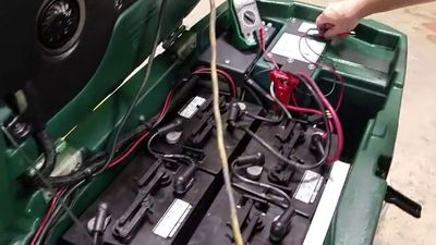 Maintenance on an auto scrubber