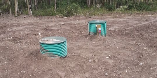 Installed septic tank
