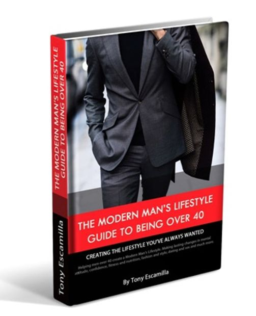 Upcoming book by Tony Escamilla. The Modern Man's Lifestyle Guide to being Over 40