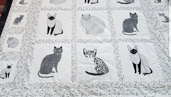 Just last month - July 2019 -we had raffled off this beautiful handmade quilt. One of our talented volunteers made this just for Melrose Humane Society.  It is one of a kind.  We appreciate any and all handmade items - people just love handmade things!!