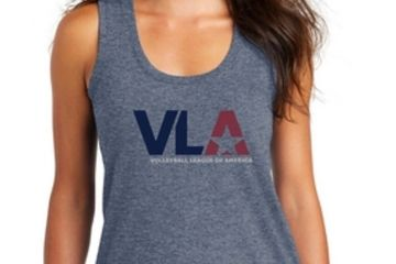 VLA Volleyball League Of America women's tank top
