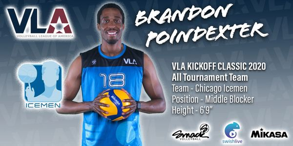 Brandon Poindexter Chicago Icemen VLA Volleyball League Of America