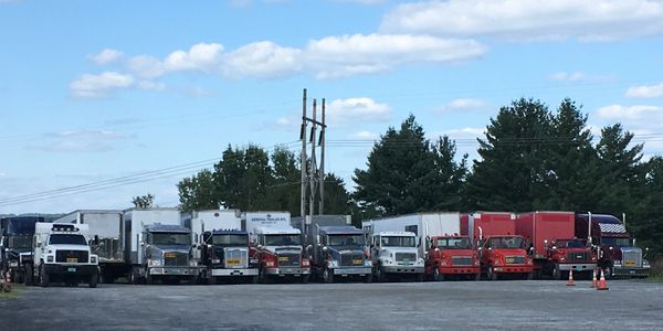 Our fleet of trucks.