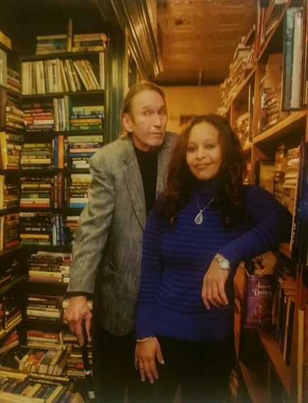 Tom Stobart and April Childers, proprietors of the Paradox Book Store In Wheeling.