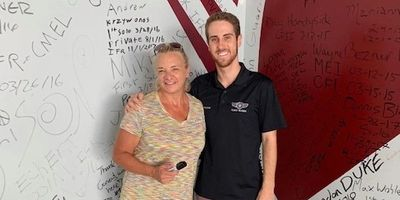Connie Leege and her instructor at Paragon Flight Training in Fort Myers, Fl