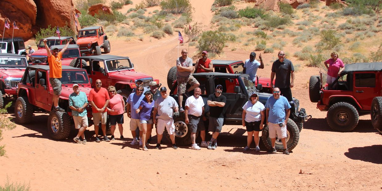 Group event at Logandale Trails on a Jeep Tour.