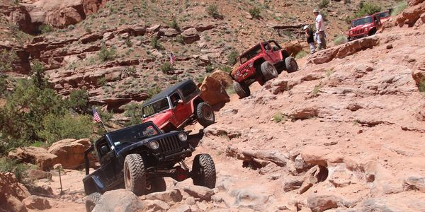 Group event at Moab Ut on a Jeep Tour.