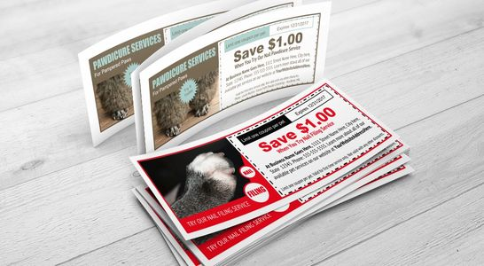 Several coupon templates are included. 100% editable to offer anything you would like.