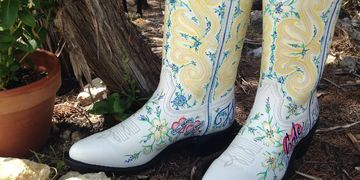 custom wedding boots