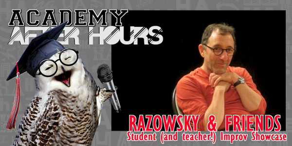 The Laughing Academy improv students take the stage with teacher David Razowsky