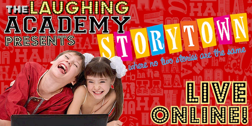 Children laughing at The Laughing Academy online show