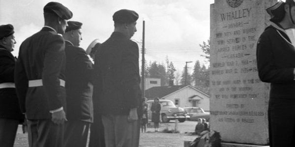 1964 Remembrance Day Photo of Whalley Cenotaph
