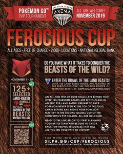 NJ Silph Arena Ferocious Cup Rules