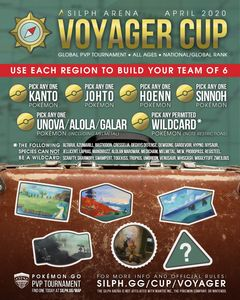 NJ GO Battle League - Silph Arena - Voyager Cup Rules