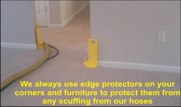 We us edge protectors while cleaning your carpet image