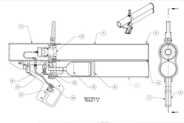 Schematic of the Mark 4 pneumatic launcher