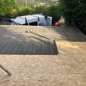 Our roofers in Lanark providing flat roofing.