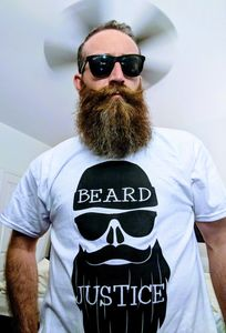 Get swagged out with Beard Justice white tees. 50/50 cotton/polyester blended and soft as a cloud.