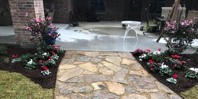patio install by landscaper, landscaping, landscape contractor lake charles louisiana