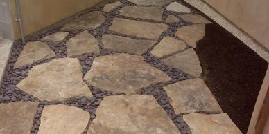 flagstone walkways by landscaper, landscaping, landscape contractor lake charles louisiana