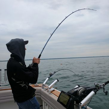 Salmon fishing on Lake Ontario
