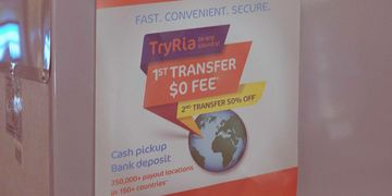 Ria money order and transfer services at Chips & Coins.