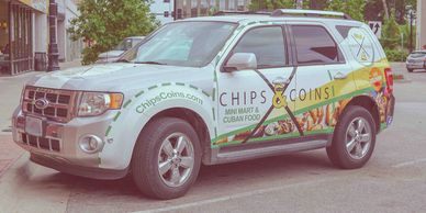 Chips and Coins delivery vehicle