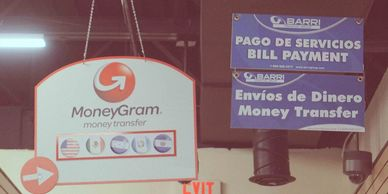 MoneyGram and Barri financial services at Chips & Coins.