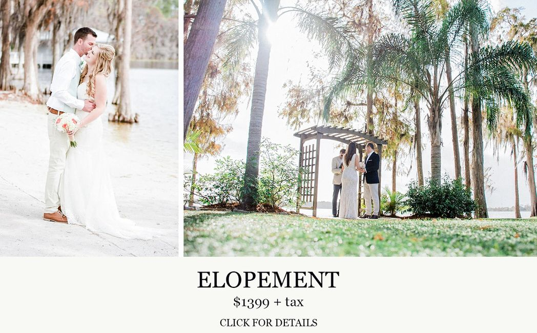 Paradise Cove Orlando Elopement wedding with Central Florida Wedding Group