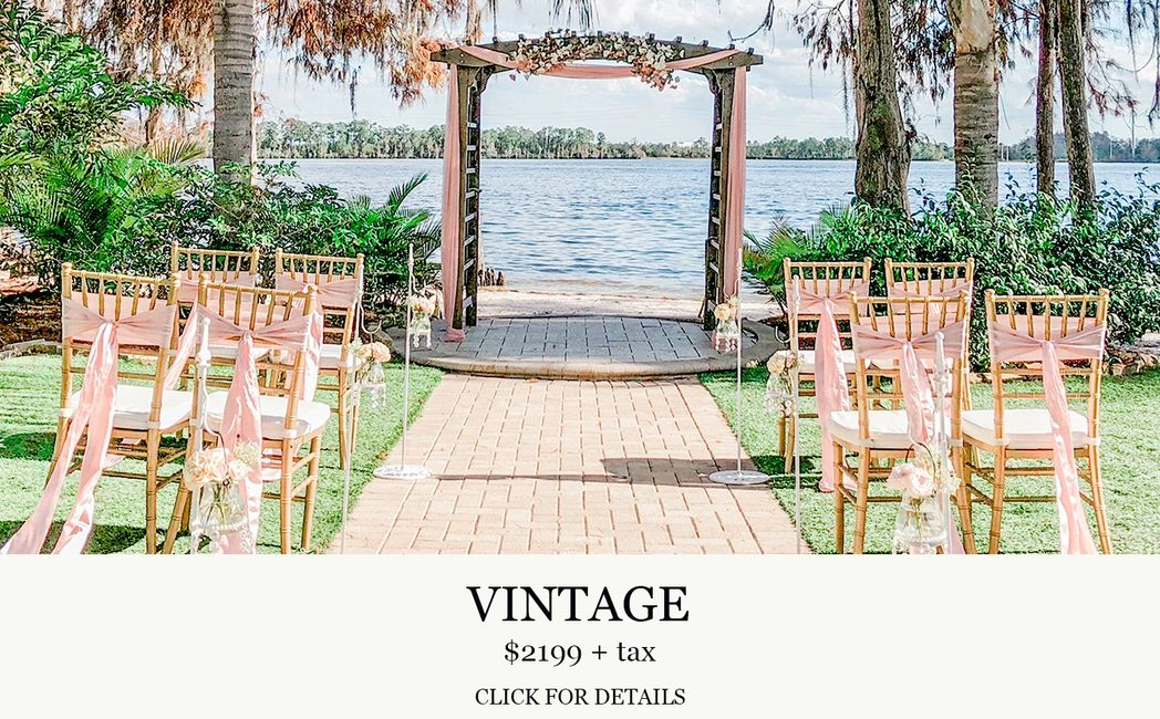 Paradise Cove Orlando Vintage wedding with Central Florida Wedding Group