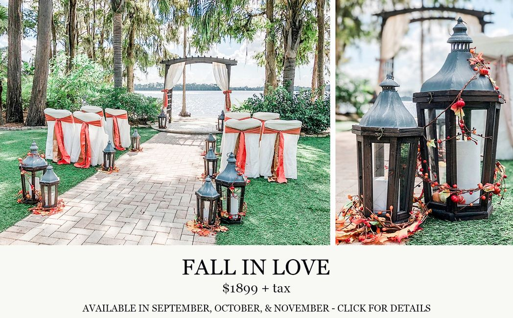 Paradise Cove Orlando Fall in Love wedding with Central Florida Wedding Group