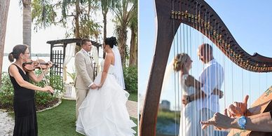 Central Florida Wedding Group Orlando Harpist and Violinist