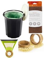 Breeze counter top composter, Walnut scrub pads, veggie brushes and much more home care products.