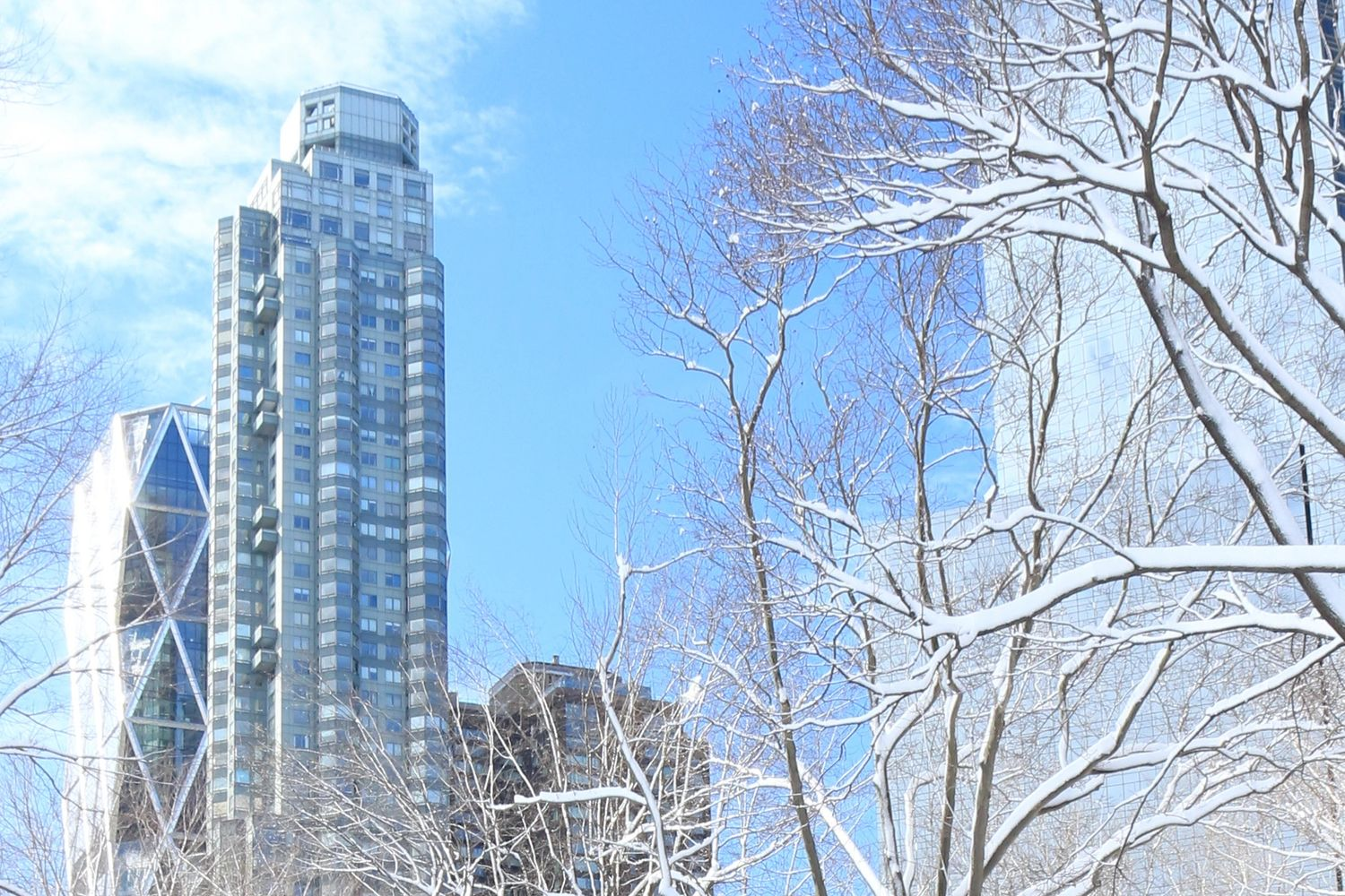 A view of the Columbus Circle skyscraper where  Atelier VGI's fine art photography is located.