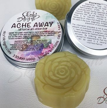 All natural lotion bar eases aches and pains