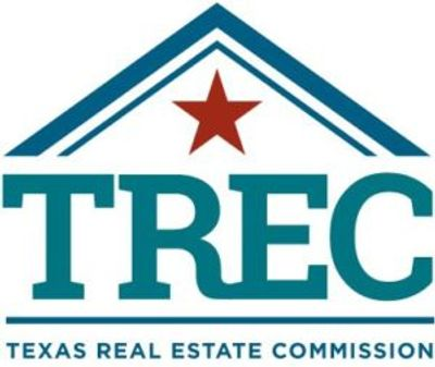 "Logo for the Texas Real Estate Commission. This image to the left of the words ""TREC Compliance""."