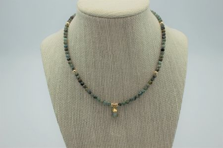 African turquoise and labradorite necklace