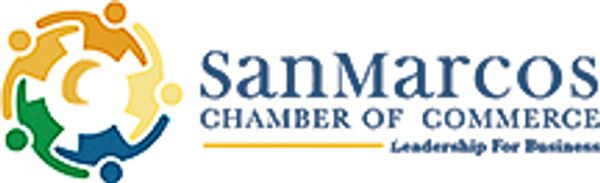 San Marcos Texas, Chamber of Commerce logo.