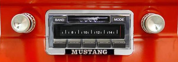 1964-1966 Ford Mustang USa-630 II Stereo installed in dash