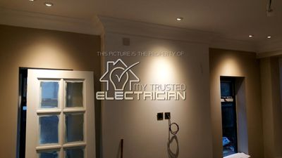 This is a home My Trusted Electrician rewired in Banstead. We wall-washed the walls with downlights.