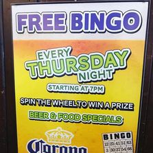 Thursday night BINGO