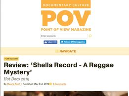 POV magazine page Review: Shella Record - A Reggae Mystery
