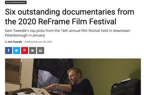 "KawarthaNow headline ""Six outstanding documentaries from the 2020 ReFrame Film Festival"""