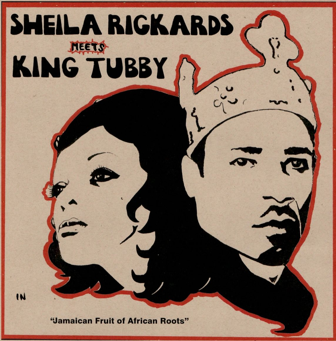 "Cover art  of Sheila Rickards meets King Tubby in  ""Jamaican Fruit of African Roots"""