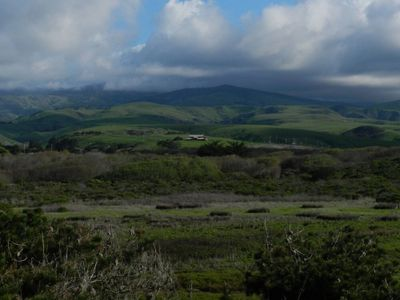 Rolling hills in Cambria, CA